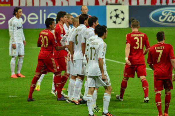 Vor dem 1:0 Bayern München vs Real Madrid Champions League Spiel