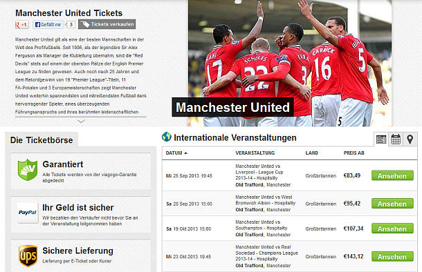 Manchester United - Hospitality VIP Tickets