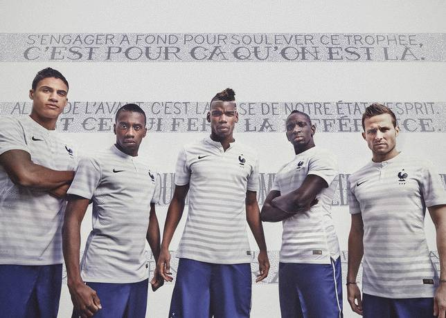 Frankreich Trikot Fussball WM 2014