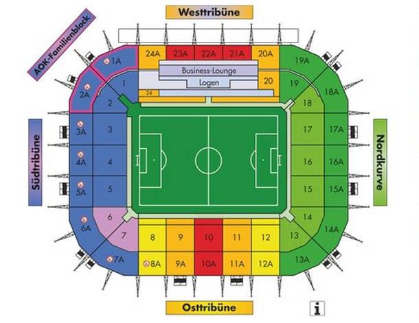 BORUSSIA-PARK Mönchengladbach Stadionplan
